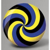 Fun Ball Spiral Yellow Blue Black - Br..