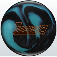 Turbo/R Black Sparkle/Aqua Ebonite Bow..