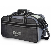 Storm 2-Ball Tote Plaid Grey Black Bal..