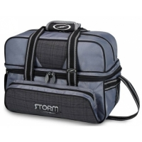 Storm 2-Ball Tote Deluxe Plaid Grey Bl..