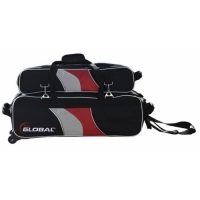 3-Ball Deluxe Airline Schwarz/Rot/Silb..