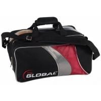 2-BALL Travel Tote Schwarz/Rot/Silber ..