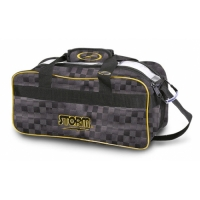 Storm 2-Ball Tote Kariert Black/Gold B..
