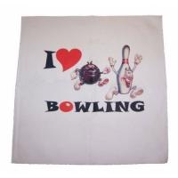 Aloha I love Bowling Handtuch